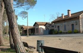 Antigues estacions de tren de Santa Cristina d'Aro i de la Font Picant